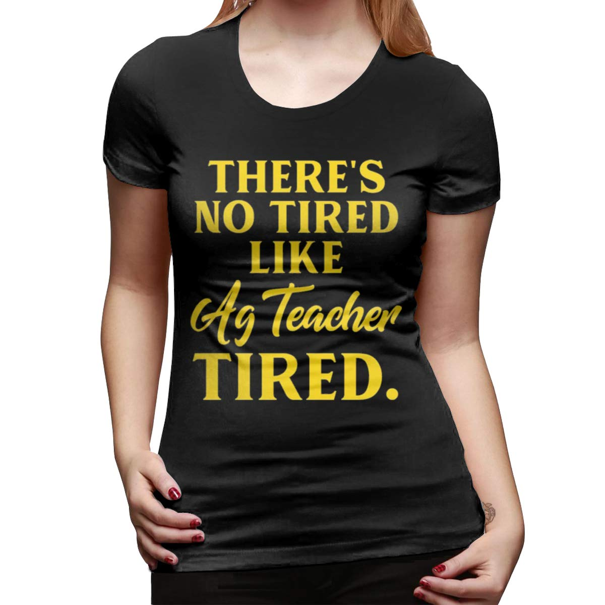 Uriayloer Theres No Tired Like Ag Tea Tired Tee Fashion Tshirt