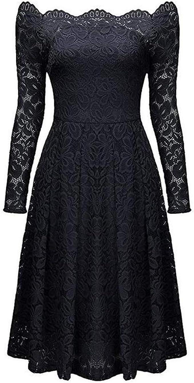 hasta la Rodilla KOJOOIN Vestido de Encaje para Mujer para Boda Vestido de Dama de Honor Vestido de c/óctel XXL Azul Cielo sin Mangas Embalaje m/últiple Vestido de Noche