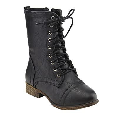 Amazon.com | Link Beyonce-62K Girls Lace Up Combat Boots | Boots
