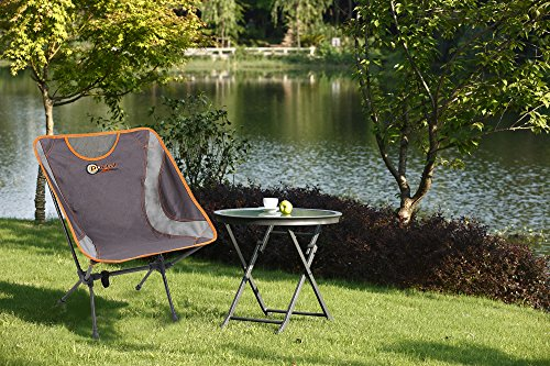PORTAL Easy Portable Lightweight Folding Camp Chair, Grey
