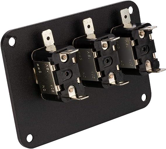 Schalter 5 X an Aus Schwarz Panel Halterung Kippschalter Spst R13 ...