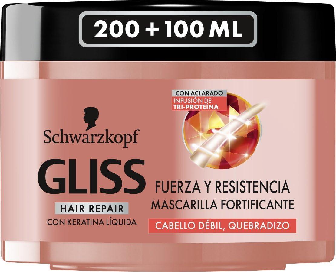 Gliss Mascarilla para el Cabello con Infusión de Tri-Proteína - 300 ml