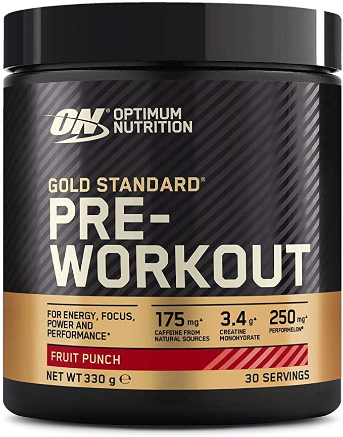 Optimum Nutrition Gold Standard Pre Workout en Polvo, Bebida Energética con Creatina Monohidratada, Beta Alanina, Cafeína y Vitamina B Complex, Fruit ...