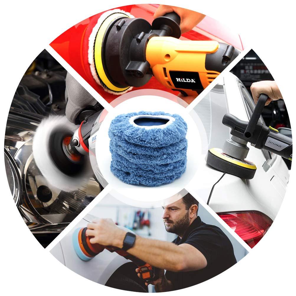 Waxers Bonnet Set AUTDER 7 Inch /& 8 Inch Car Polisher Pad Bonnet Pack of 8 Pcs 2 Pcs for Each Woollen+Cotton+Microfiber+Coral Fleece