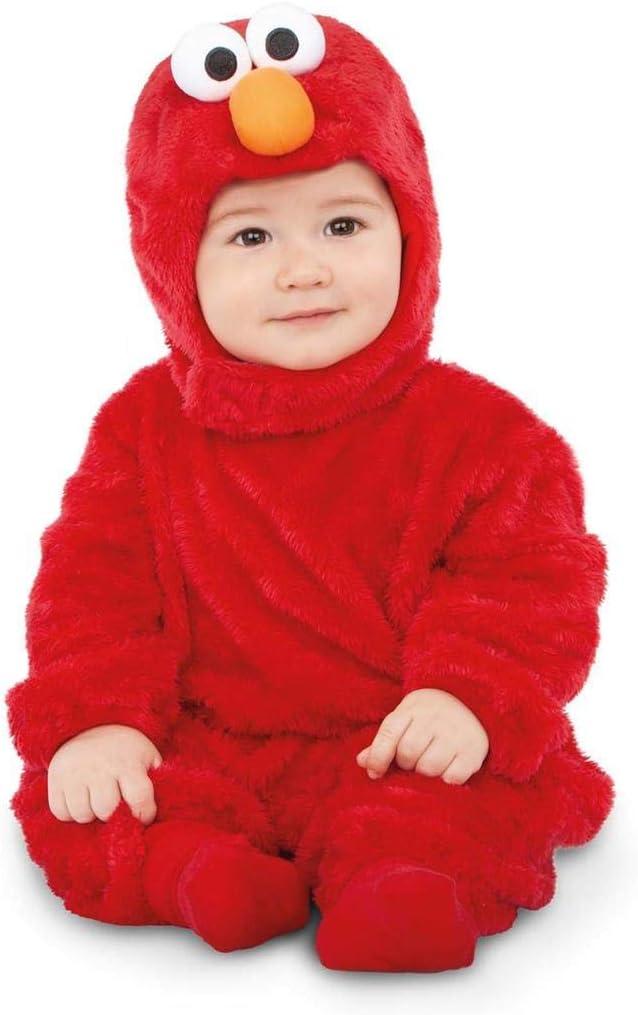 Barrio Sésamo Disfraz de Elmo Rojo para bebé: Amazon.es: Juguetes ...