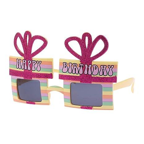 Amosfun Fiesta de cumpleaños Gafas de Sol Novedad Lentes ...