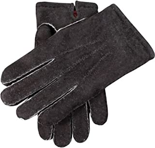 Dents Mens York Fleece Lined Lambskin Gloves - Black - Large/Extra Large