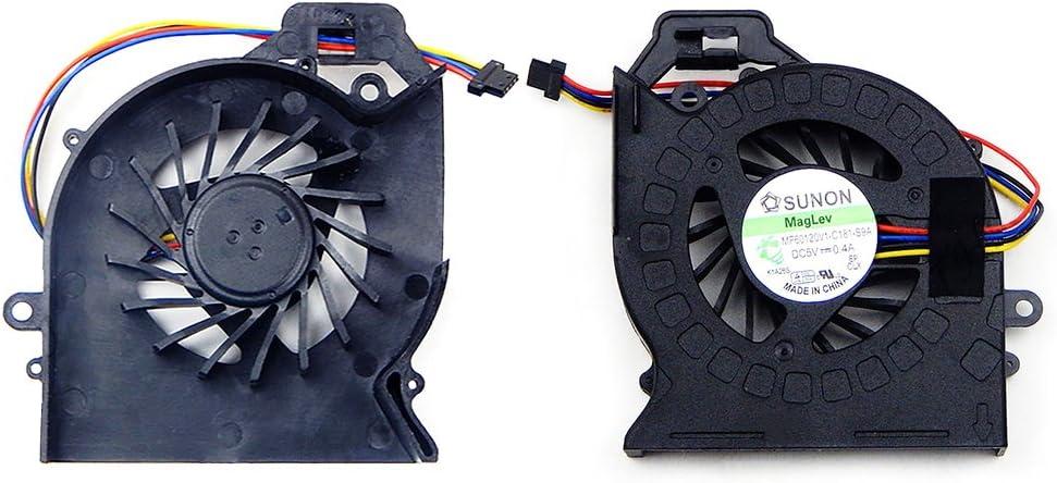 Todiys CPU Fan for HP Pavilion DV6-6000 DV7-6000 DV6-6100 DV7-6100 DV7-6200 DV6-6B DV6-6C DV7T-6000 DV7T-6B Series 650797-001 650848-001 641477-001