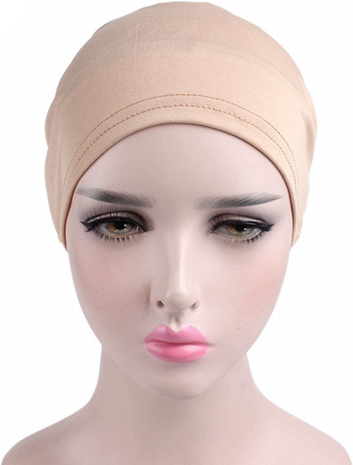 MOMEPE 1 2 3 Pack Women Flower Pleated Head Cover Turban Chemo Hat for Cancer Patient