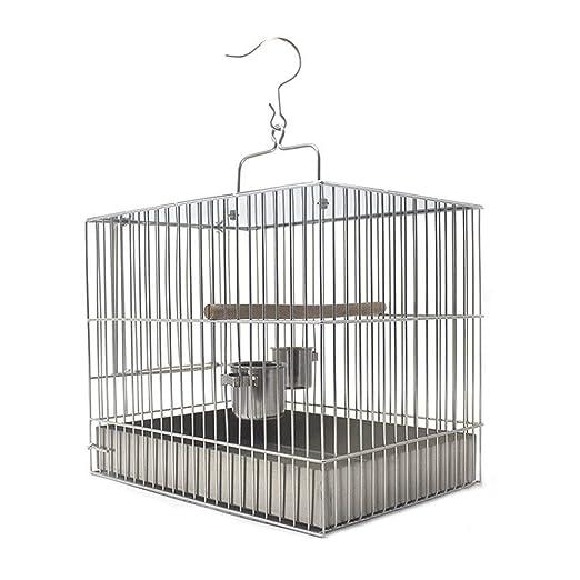 HD-Birds - Jaula de Acero Inoxidable para pájaros y Loros (Forma ...