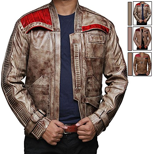 The Force Awakens Finn Jacket Apparel - Mens Waxed Brown Pilot Jacket (L) [RL-FINN-BW-L]