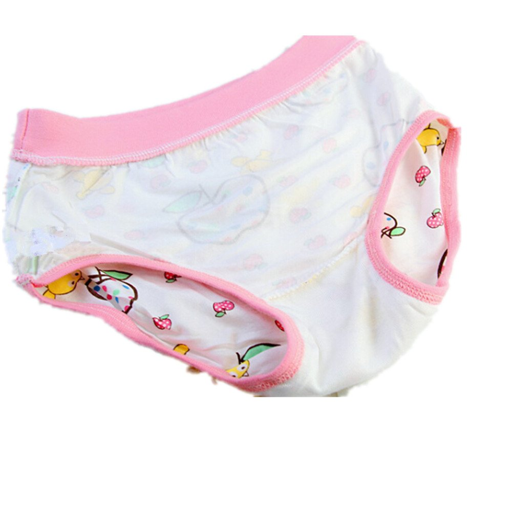 Adiasen Big Girls Cute 4 Packs Modal Underwear Briefs Hipster Color Random