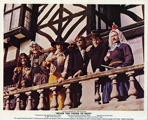 NEVER TOO YOUNG TO ROCK ORIGINAL LOBBY CARD MUD THE RUBETTES GLITTER BAND RARE (Rare Glitter)