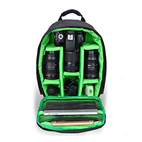 Mochila profesional para guardar cámaras de fotos y sus accesorios; trípodes, lentes, flashes, mochila impermeable, ...