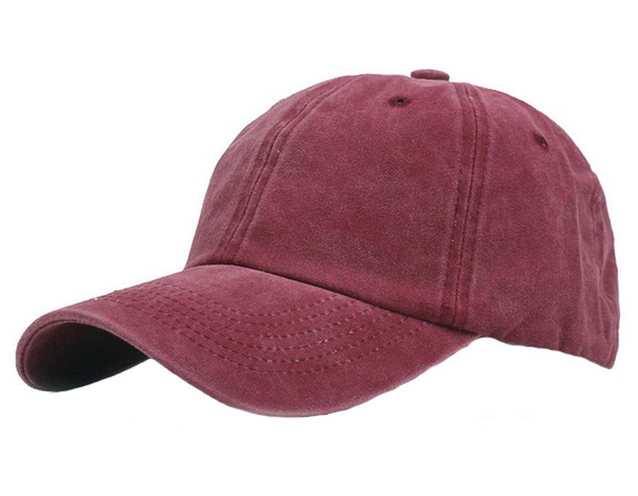 Licus - Gorra de béisbol - para mujer Rojo rojo vino Medium ...