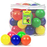 Click N' Play CNP30336 Phthalate Bpa Free Crush Proof Plastic Pit Balls, 6 Colors, 50-Pack