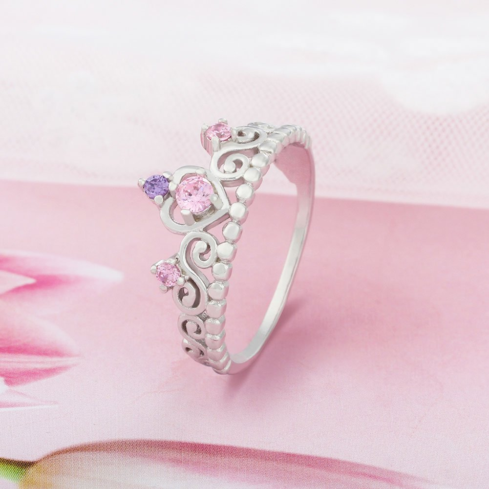 PHOCKSIN Bridal Engagement Rings 925 Sterling Silver Wedding ...