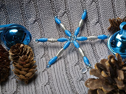 Paper Bead Holiday Ornament Fair Trade – Blue – BeadforLife