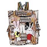 WhiteAsh Women's Printed Backpacks College Bag for Girl's (Multi)