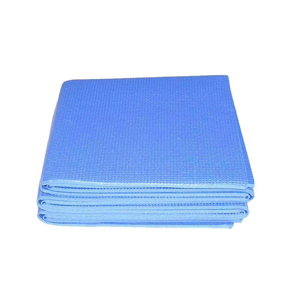 Faltbare, tragbare Yogamatte PVC gepolstertes Quadrat Pads für den Außenbereich Rutschfest Gymnastik-Übungsmatte Reisematte mit 5mm für Yoga, Pilates, Reisen, Training 173  61CM