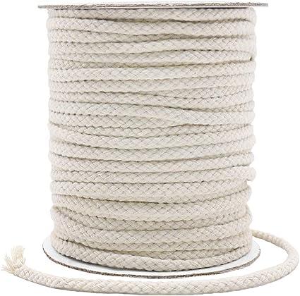 Cordón de macramé de 5 mm, resistente cuerda de macramé de algodón para manualidades, regalos: Amazon.es: Oficina y papelería