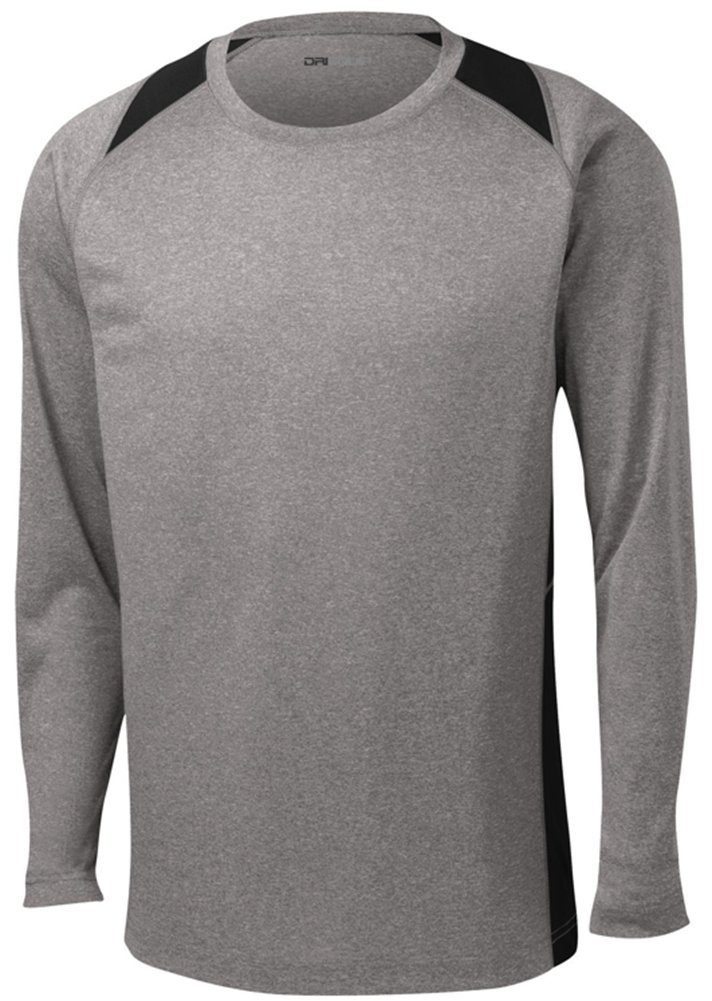 DRI-Equip Long Sleeve Moisture Wicking Athletic Shirts in Mens Sizes XS-4XL by Joe's USA