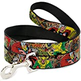 Dog Leash Thor Loki Poses Retro Comic Books Stacked 6 Feet Long 0.5 Inch Wide