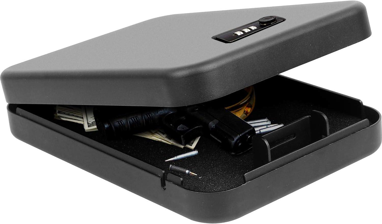 Jolitac Portable Safe Box Security Case Lock, Key Lock Quick Access Gun Safe, Solid Steel Pistol Safe Handgun Safe for Car, Home, Travel