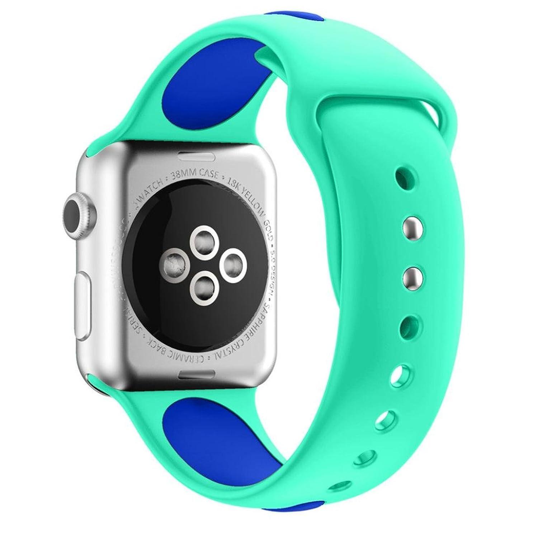 becolerソフトシリコンブレスレット用交換用時計バンドApple Watchシリーズ1 / 2 42 mm As show スカイブルー  スカイブルー B07932QD6Y