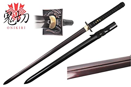 Amazon.com: swordmaster – onikiri Full Tang recta de acero ...
