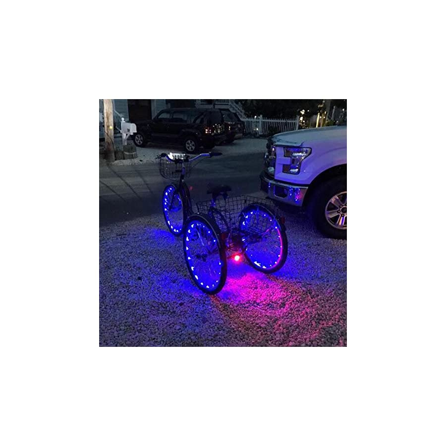 Accmor 2 Pack LED Bike Wheel Lights, Safety Waterproof USB Rechargeable Spoke Lights(Multi color)