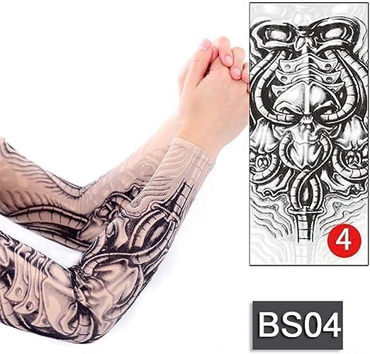 tzxdbh 3 Unids-Tatuaje Temporal Mangas Geisha Dragon Skull diseños ...