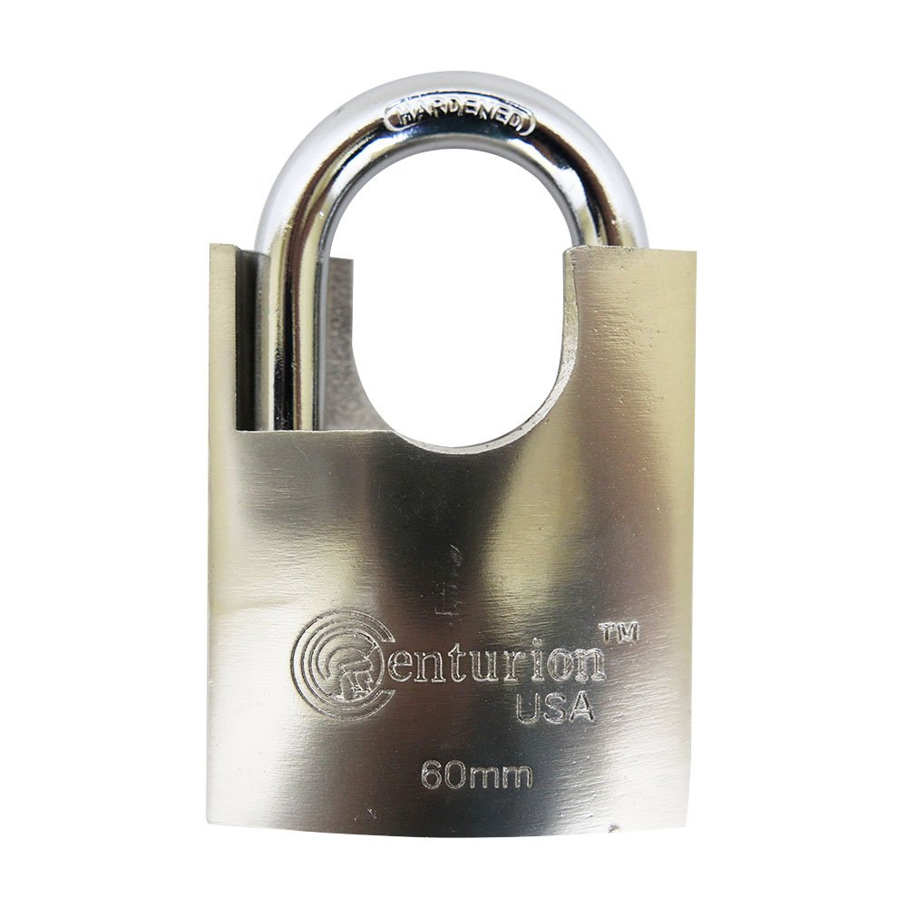 Centurion SIPL060 High Security Padlock, 60mm Armored Iron Body - Heavy Duty Padlock, 3 Keys Included (60mm Body (1) Piece)