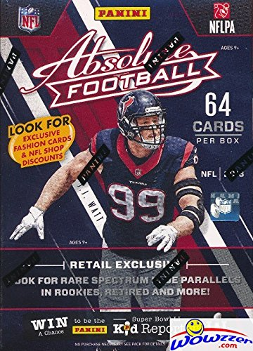 2016 Panini Absolute NFL Football EXCLUSIVE Factory Sealed Retail Box with 64 Cards including 8 PARALLEL or INSERTS! Look for Rookie & Autographs of Carson Wentz, Ezekiel Elliott, Dak Prescott ()