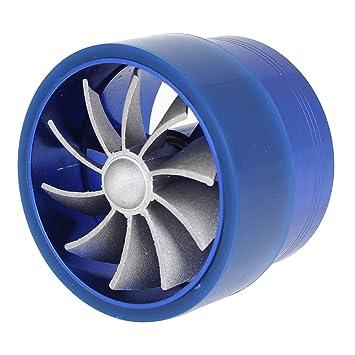 Sourcingmap Turbo Sobrealimentador Ventilador para Vehículo Coche Aire Admisión Sola Turbina Azul: Amazon.es: Coche y moto
