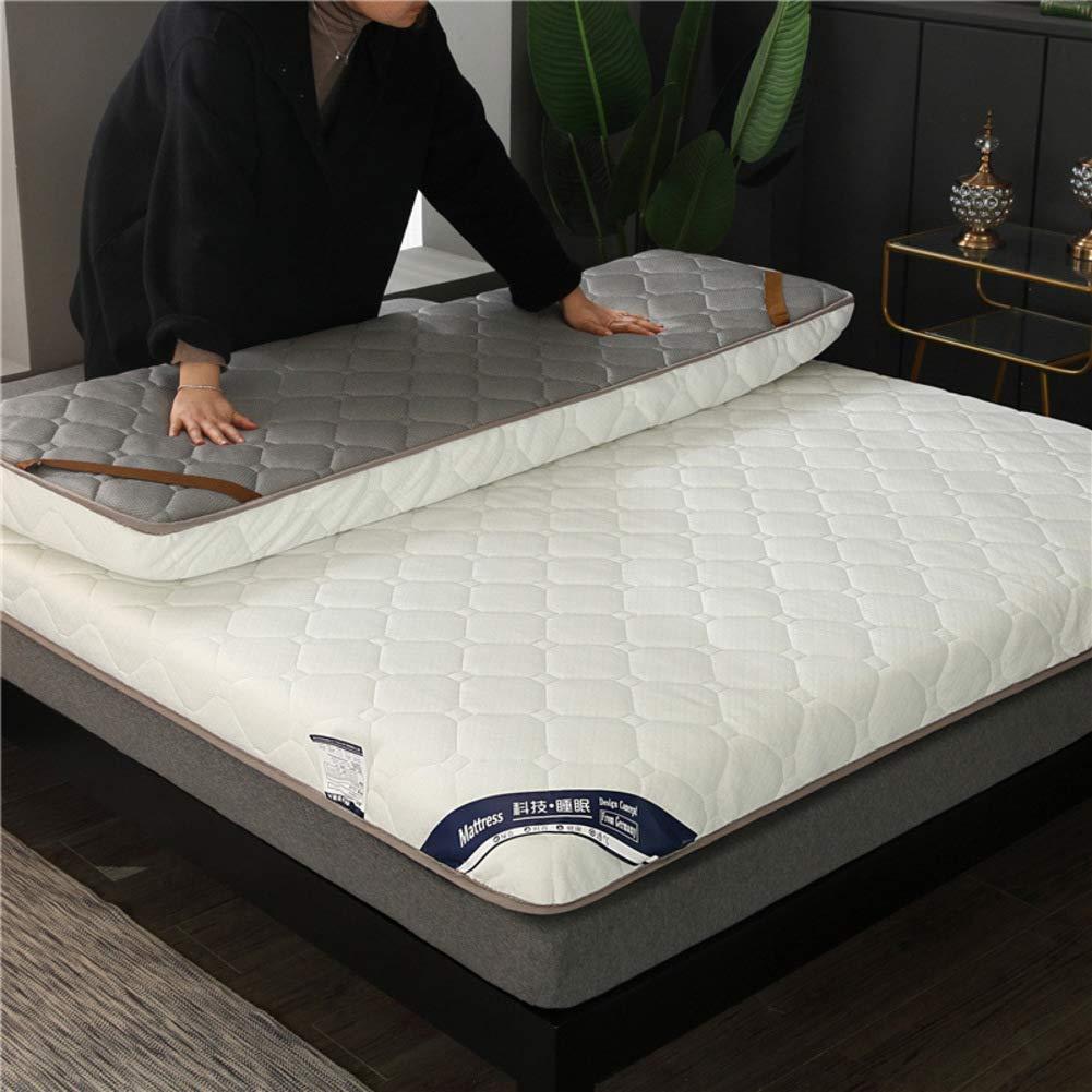 HIGHKAS Verdicken Sie gestrickte Baumwollmatratze, Faltbare Tatami-Bodenmatte Breathable rutschfeste Futon-Multifunktionsmatratze Pad-c 180x200cm (71x79inch)