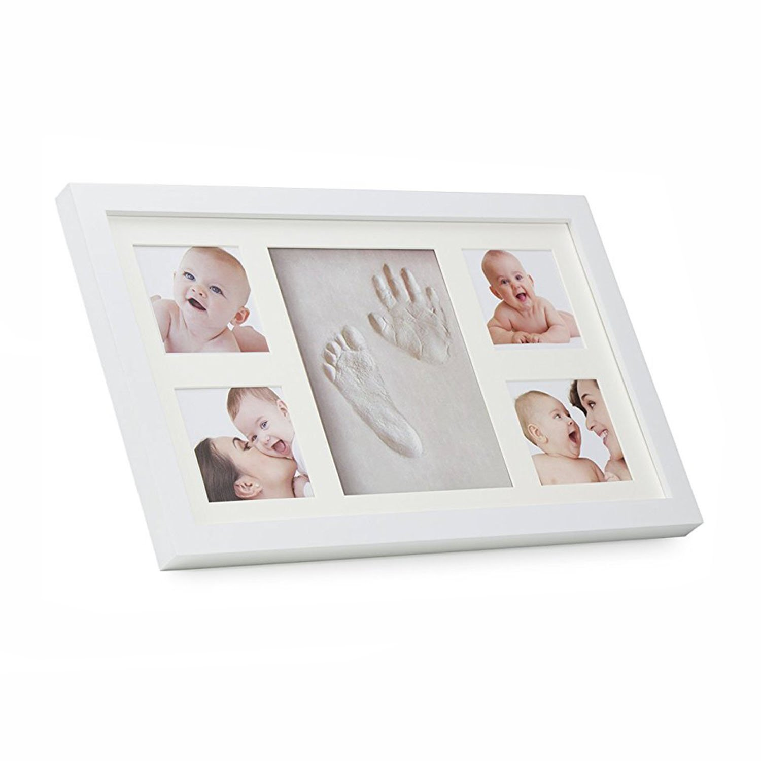 4X photo Baby Handprint and Footprint Picture Frame Kit,Baby Prints Photo Frames for Newborn Baby Gifts Junxave