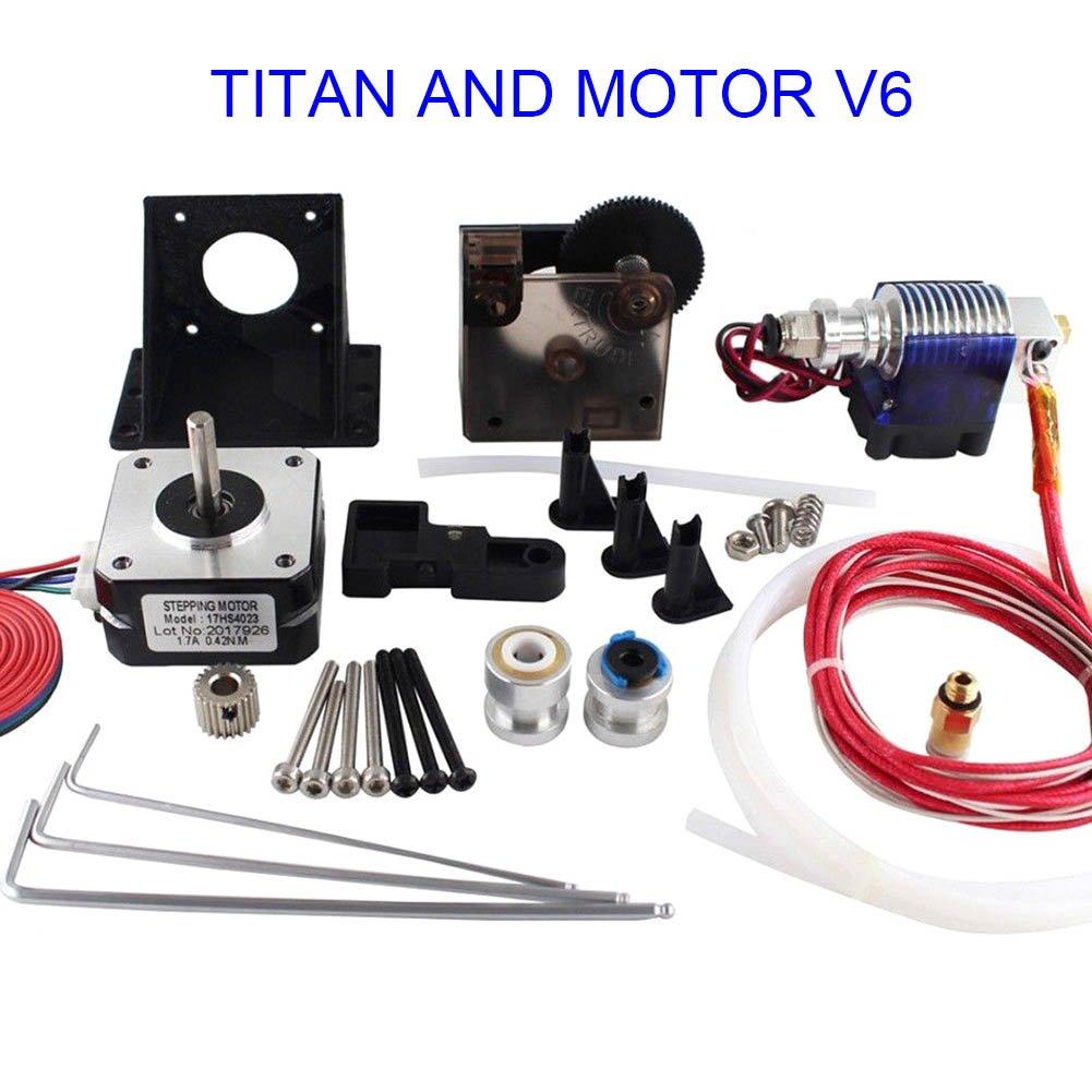 ROKOO 1 Set Titan Extruder+Stepper Motor+Volcano Hotend Spare for 1.75 3D Printer Part 1rv3tm2qy6ry4cu7