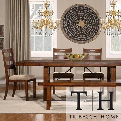 Rustic Dining Set Oak Turnbuckle 6-piece