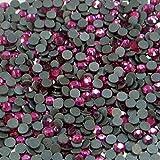 "100% Custom Made (5mm) 720 Bulk Pieces of Mini Size ""Glue-On"" Flatback Embellishments for Decorating, Made of Acrylic Resin w/ Shiny Iridescent Crafting Rhinestone Crystal Fuchsia Gem Style {Pink}"