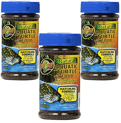 - Zoo Med (3 Pack) Natural Aquatic Turtle Food - Hatchling Formula