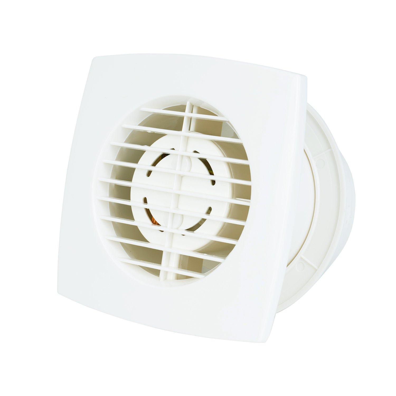 Hon&Guan 4'' Home Ventilation Fan, Air Circulator Bathroom Garage Exhaust  Fan Window and Wall Mount & Ceiling Mounted Fan Built-in Household