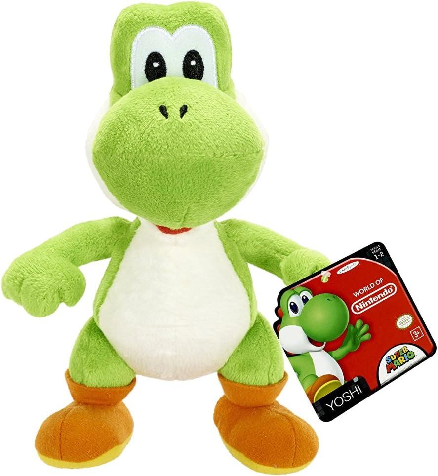 Mario Bros - Mundo de Nintendo, Yoshi Plush, 15 cm (Jakks ...