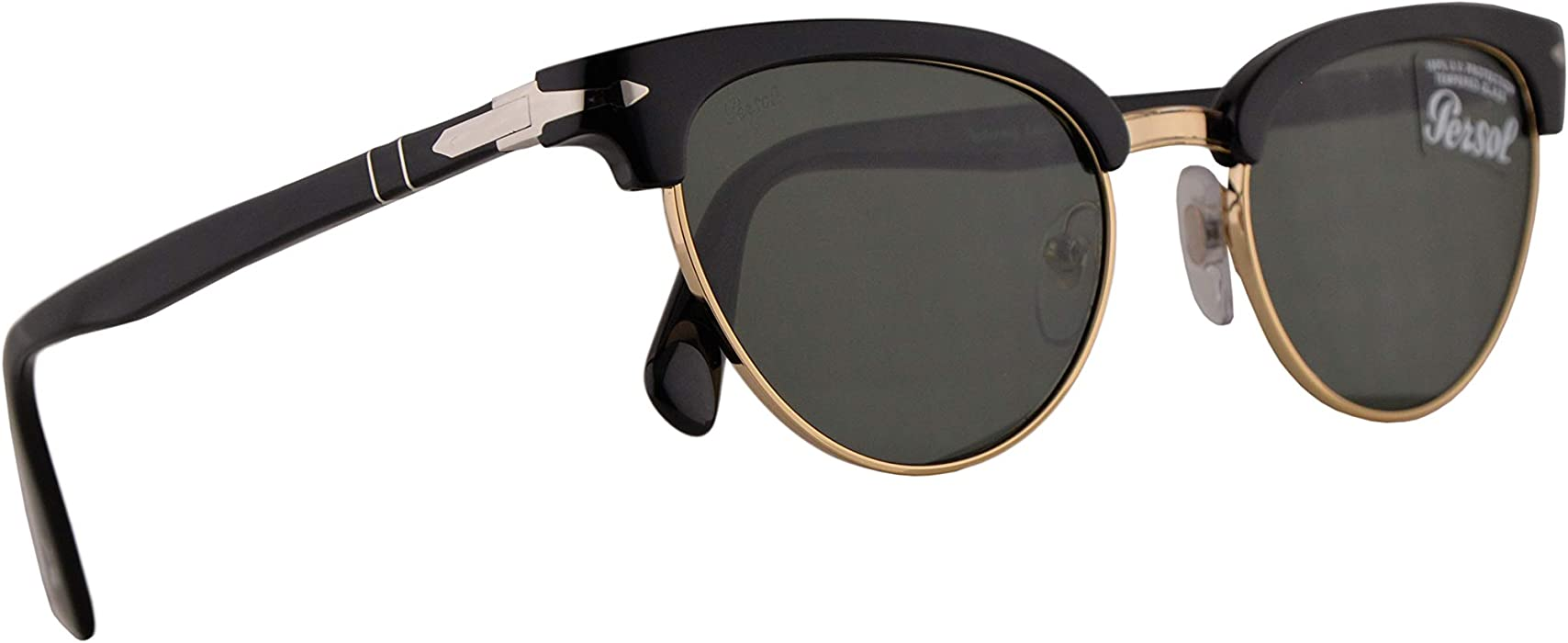 7d41f00725 Persol PO3198S Tailoring Edition Sunglasses Black w Green 51mm Lens 9531 PO  3198S PO 3198