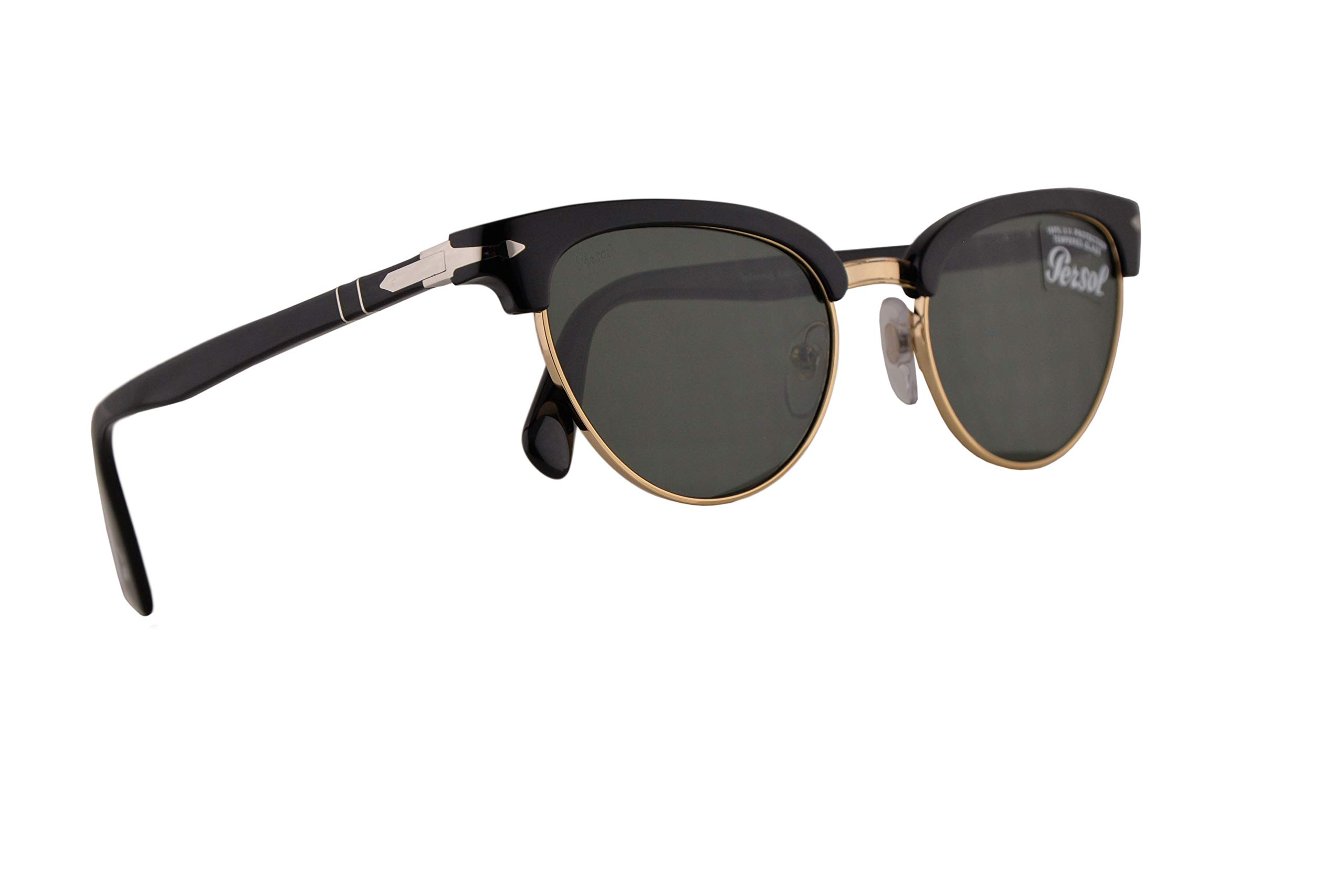 ویکالا · خرید  اصل اورجینال · خرید از آمازون · Persol PO3198S Tailoring Edition Sunglasses Black w/Green 51mm Lens 9531 PO 3198S PO 3198-S PO3198-S wekala · ویکالا