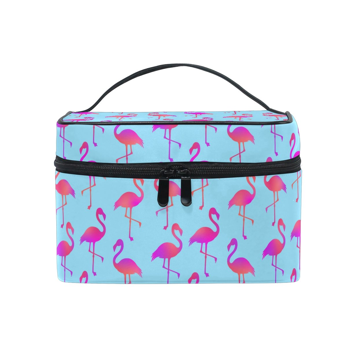 177499b2085a Amazon.com   Women Cosmetic Bags Waterproof Wash Bags Portable Travel  Toiletry Pouch Flamingo Printing Makeup Bag With Zipper   Beauty