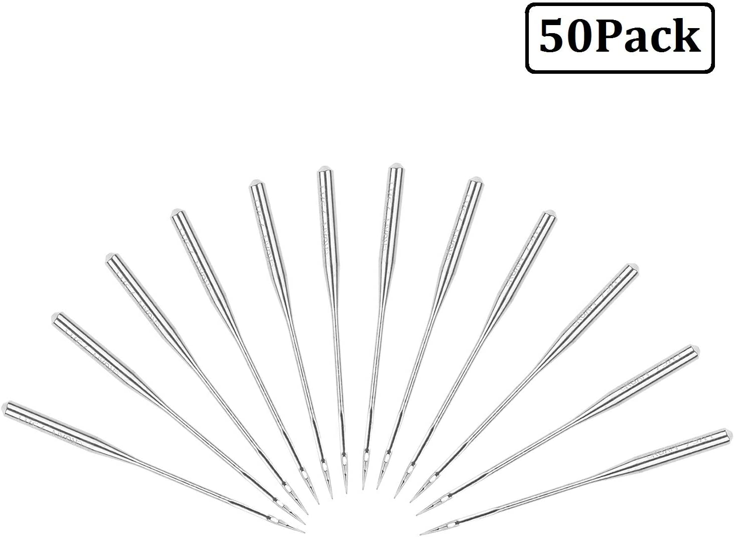 Sewing Machine Needles 90//14 100//16 100//18 11-18 Universal Regular Point Size 75//11 50 Count 80//12