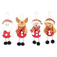 Toyvian Decoraciones Colgantes de Navidad Papá Noel Adorable