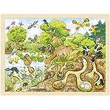Goki - 2041648 - Puzzle En Bois À Encastrement - Découvrez La Nature - 96 Pièces