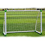 onestops8 6' x 4' Football Soccer Goal W/Net Straps, Anchor Ball Training Sets Sports